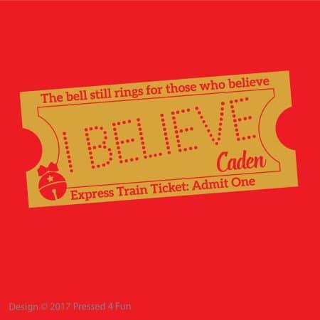 Express Train Ticket Shirts Design