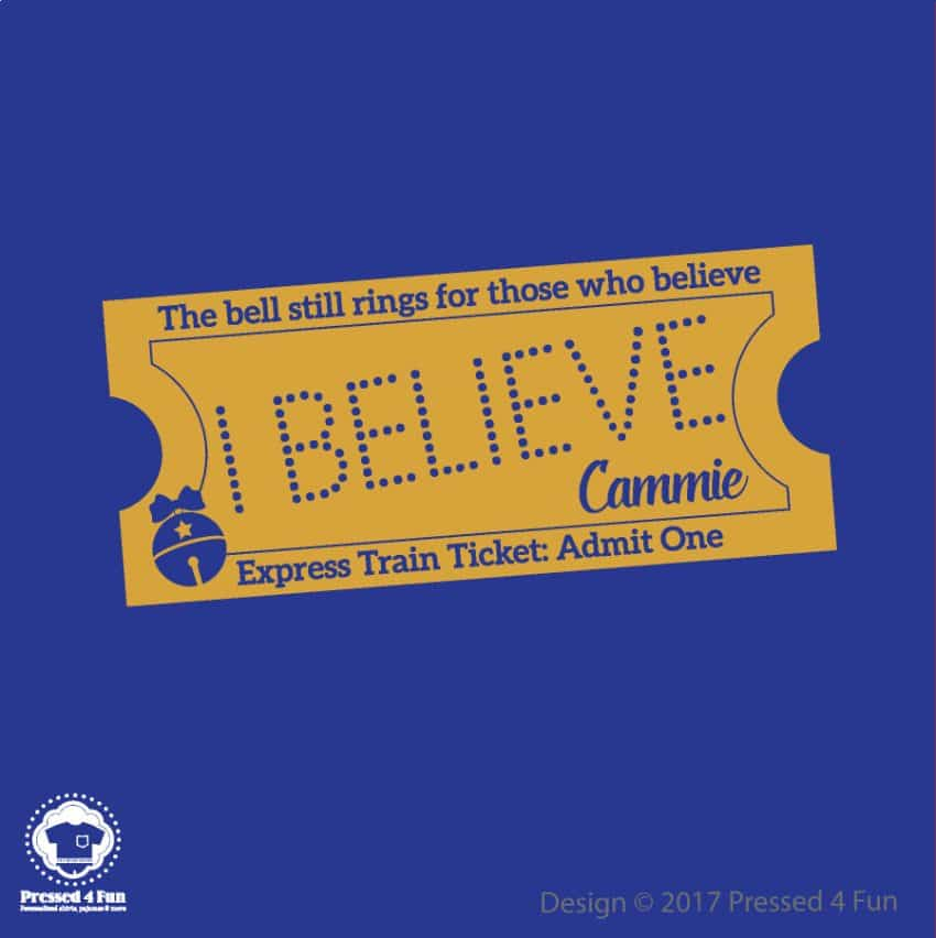 Express Train Ticket Blue Design