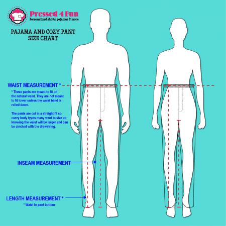 Pressed 4 Fun Pants Size Chart