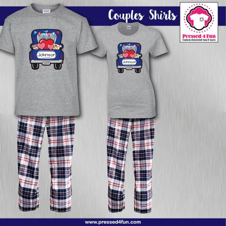 Love Truck Pajamas - Short Sleeve