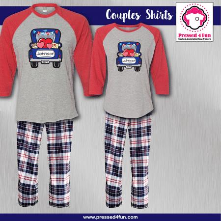 Love Truck Pajamas - Raglans