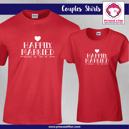 Happily Married Shirts - Short Sleeve