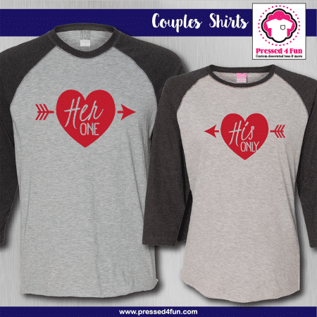 Her One His Only Shirts - Raglans