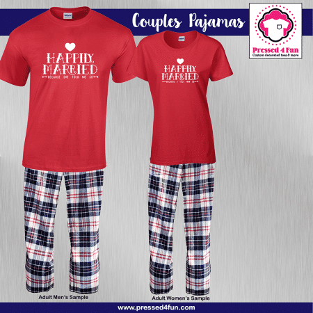 Happily Married Pajamas - Short Sleeve