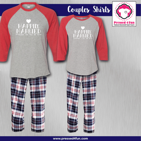 Happily Married Pajamas - Raglans
