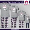 Initial Bunny Pajamas - Short Sleeve