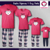 Rabbit Face Pajamas - Short Sleeve Pink