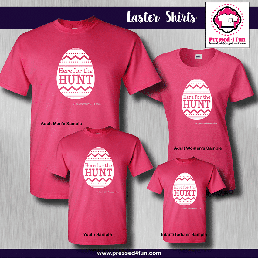Here for the Hunt Shirts - Short Sleeve Pink