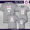 Initial Bunny Shirts - Short Sleeve