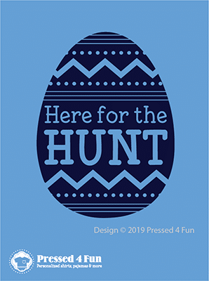 Here for the Hunt Blue Artwork