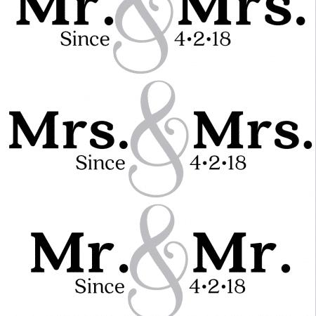Mr & Mrs Since Design