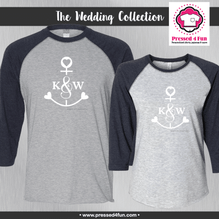 Anchor Initial Shirts - Raglans