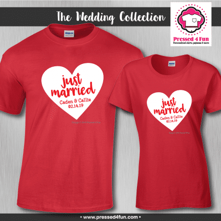 Just Married Shirts - Short Sleeve