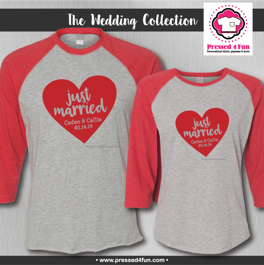 Just Married Shirts - Raglans