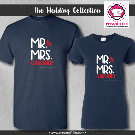 Mr & Mrs Shirts - Short Sleeve