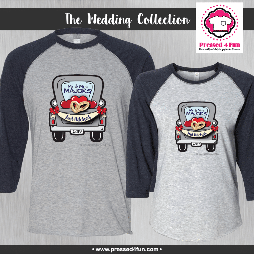 Wedding Truck Shirts - Raglans