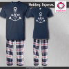 Anchor Initial Pajamas - Short Sleeve