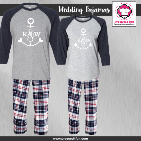 Anchor Initial Pajamas - Raglans