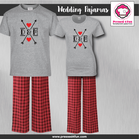 Arrow Heart Pajamas - Short Sleeve