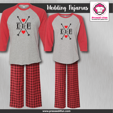 Arrow Heart Pajamas - Raglans