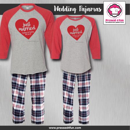 Just Married Pajamas - Raglans