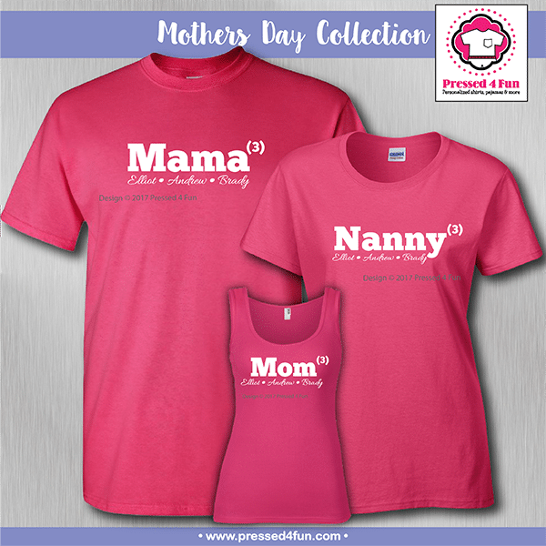 Mom Number Shirts - Mother's Day