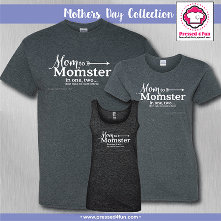 Mom to Momster Shirts - Mother's Day