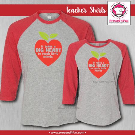 Big Heart Shirts - Raglans