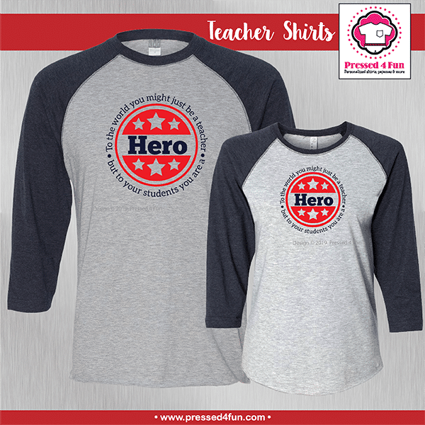 Hero Teacher Shirts - Raglans