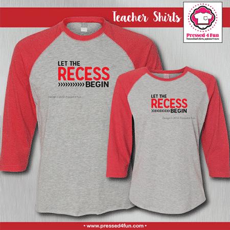 Recess Shirts - Raglans