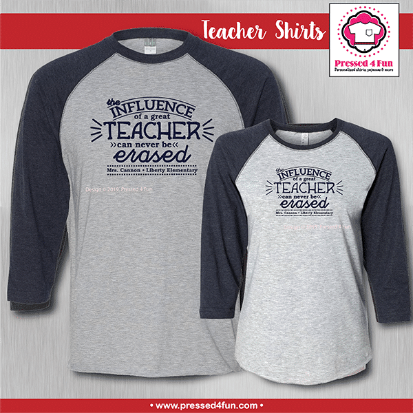 Teacher Influence Shirts - Raglans