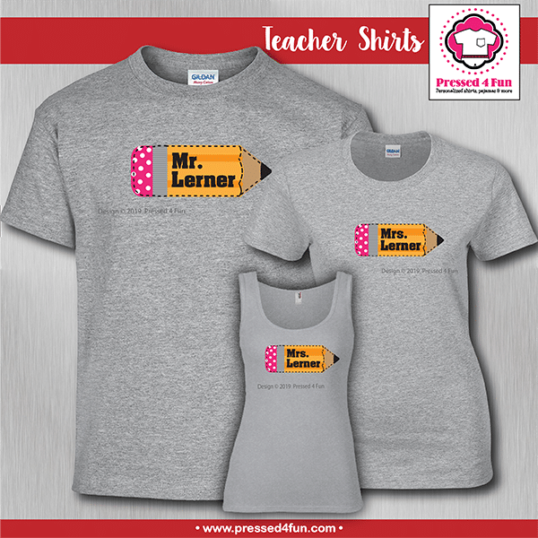 Teacher Pencil Shirts
