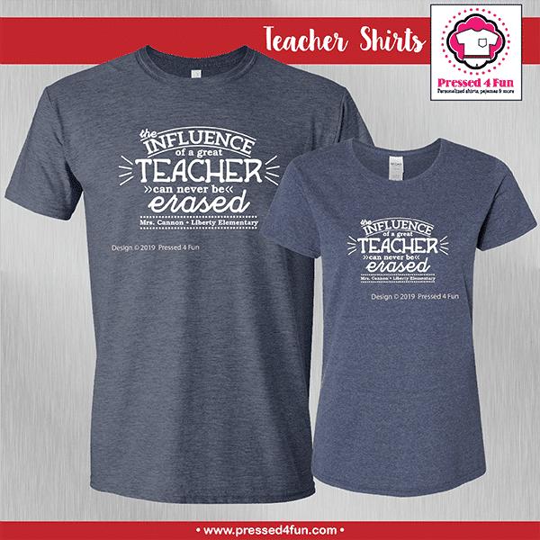Teacher Influence Shirts - Short Sleeve
