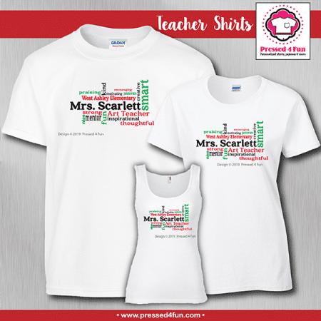 Teacher Word Art Shirts - Short Sleeve