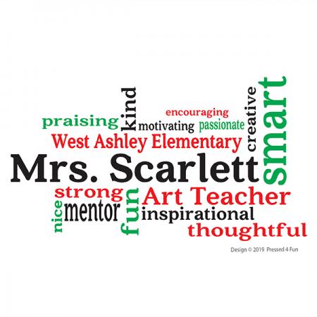 Teacher Word Art Shirts