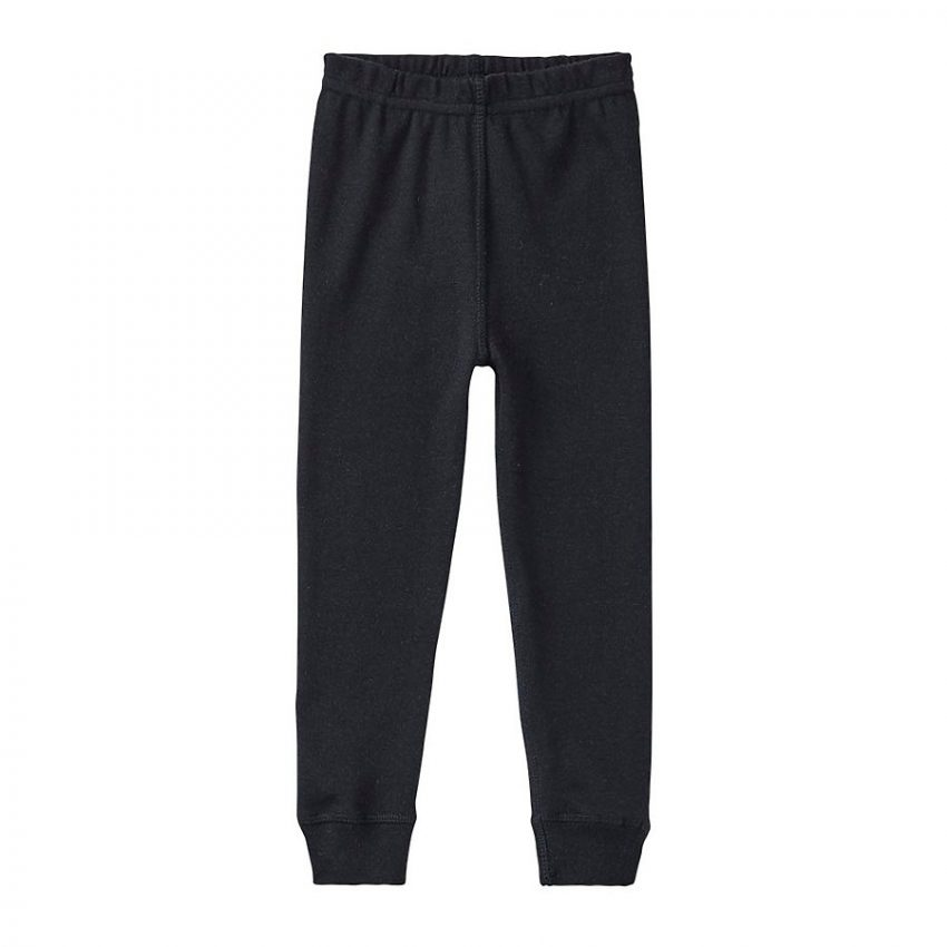 Infant and Toddler Black Jogger Pajama Pants