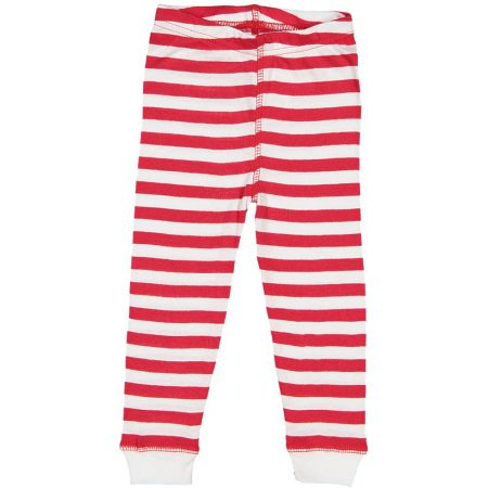 Infant Toddler & Youth Red White Stripe Jogger Pajama Pants