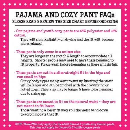 Pressed4Fun Pajama Cozy Pants FAQs