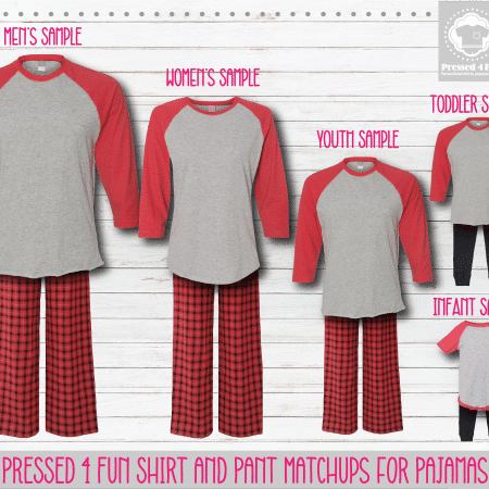 Red Grey Black Raglan Pants Setup