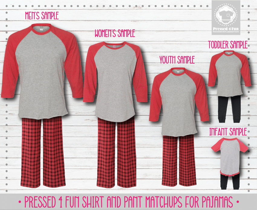 Red Grey Black Raglan Pants Setup