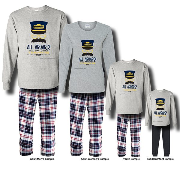 All Aboard Pajamas - Long Sleeve White Background