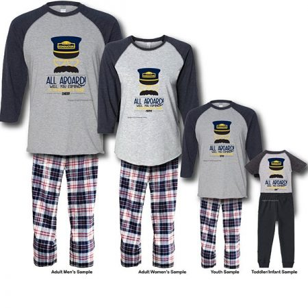All Aboard Pajamas - Raglans White Background