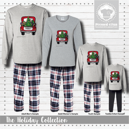 Christmas Truck Pajamas - Long Sleeve
