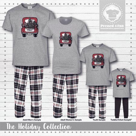 Christmas Truck Pajamas - Short Sleeve
