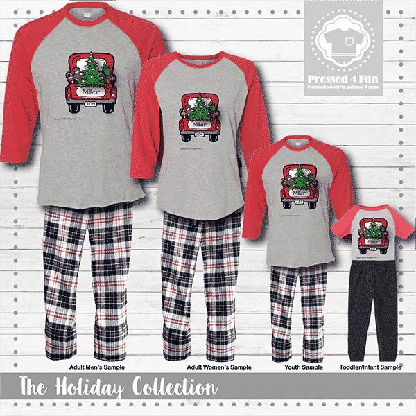 Christmas Truck Pajamas - Raglans