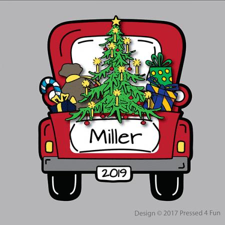 Christmas Truck Shirts Design
