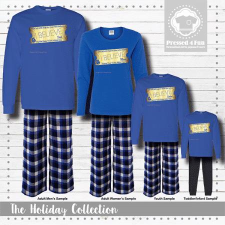 Express Train Ticket Pajamas - Blue Short Sleeve
