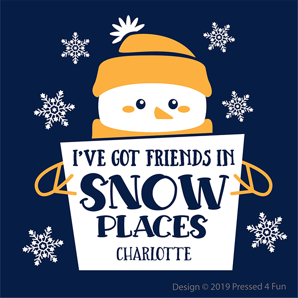 Friends in Snow Places Shirts Design