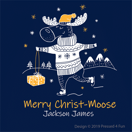 Merry Christ-Moose Shirts Design