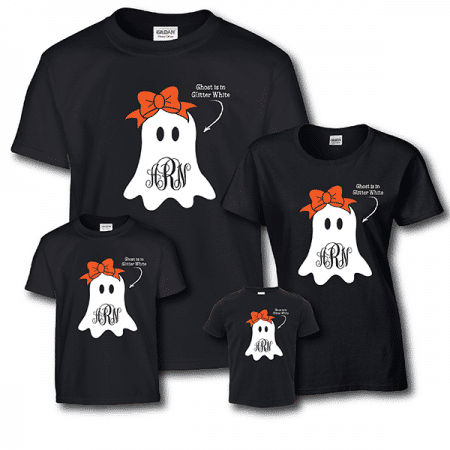 Glitter Ghost Shirts - Short Sleeve White